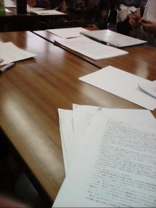 プロット勉強会の写真